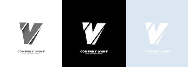 Streszczenie sztuka alfabet litery v logo. zepsuty projekt.