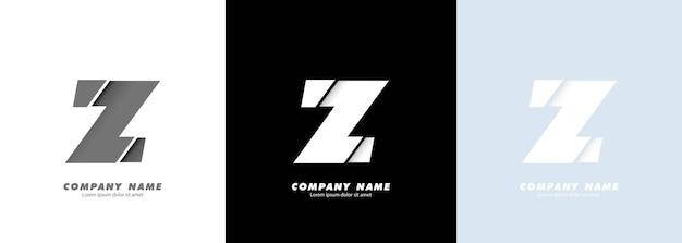 Streszczenie sztuka alfabet litery z logo. zepsuty projekt.