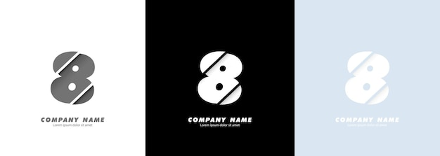 Streszczenie sztuka logo numer 8. zepsuty projekt.
