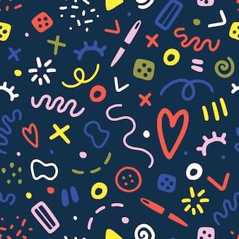 Streszczenie szycia doodles wzór