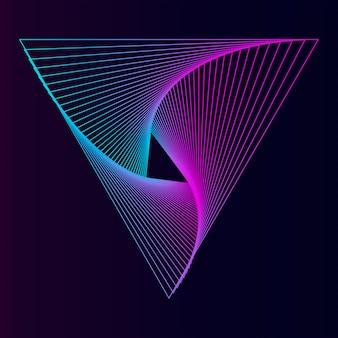 Streszczenie tapeta dynamiczny wzór
