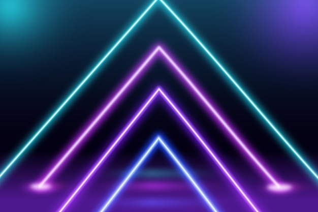 Streszczenie tapeta światła neonowe