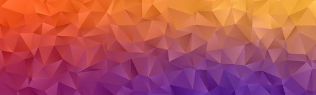 Streszczenie tapeta tło geometryczne wielokąta. nakładka na nagłówek w kształcie trójkąta low polly kolorowa