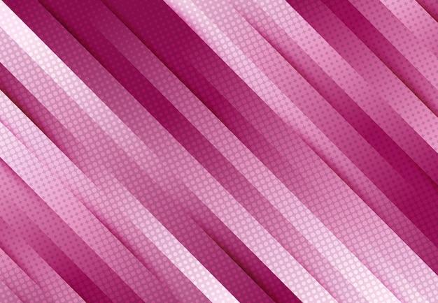 Streszczenie tech design kolor magenta z efektem cienia na dekoracyjnym tle półtonów.