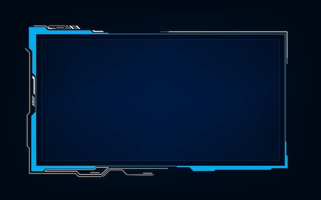 Streszczenie tech sci fi hologram rama szablon projektu tła