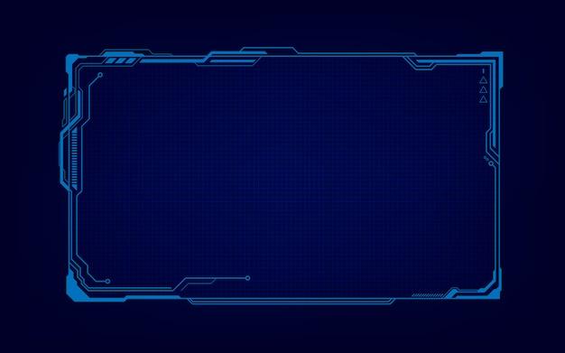 Streszczenie technika sci fi hologram rama szablon projektu