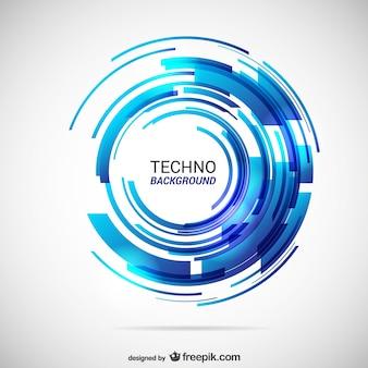 Streszczenie techno w tle