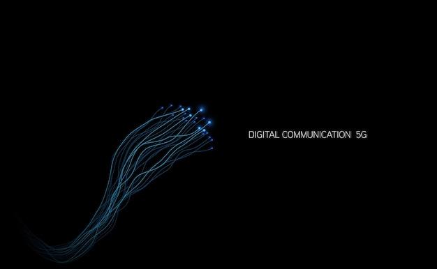 Streszczenie technologia chip procesor tło płytka drukowana i kod html, ilustracja niebieski wektor tle technologii.