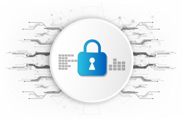 Streszczenie technologia cyfrowa bezpieczeństwa tło.