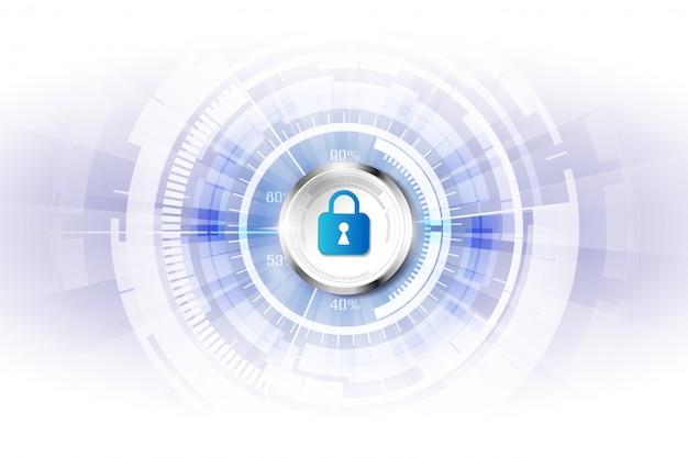 Streszczenie technologia cyfrowa bezpieczeństwa tło