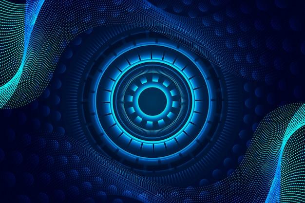 Streszczenie technologia futurystyczna tło