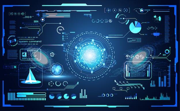 Streszczenie technologia futurystyczny interfejs hud ui