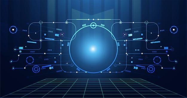 Streszczenie technologia futurystyczny interfejs użytkownika