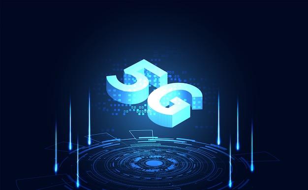 Streszczenie technologia interfejs futurystyczny interfejs świat cyfrowy interfejs hud hologram elementy cyfrowych danych wykresu, komunikacji, koło procent witalności innowacji na hi tech przyszłości projekt tło