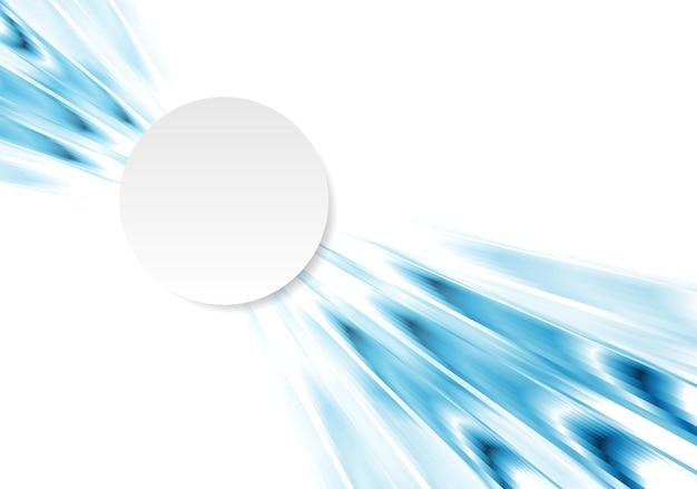Streszczenie technologia koncepcja tło z białym kółkiem. projekt wektorowy