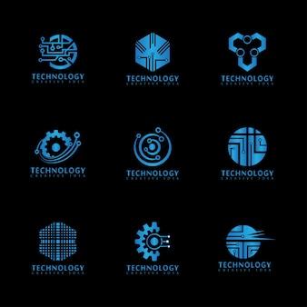Streszczenie technologia logo szablon wektor ikona