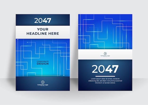 Streszczenie technologia pokrywa z płytką drukowaną. koncepcja projektowania broszury high-tech. zestaw futurystyczny układ biznesowy. futurystyczne szablony plakatów cyfrowych
