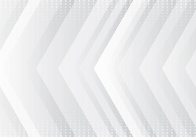 Streszczenie technologia strzałki szary i biały tło