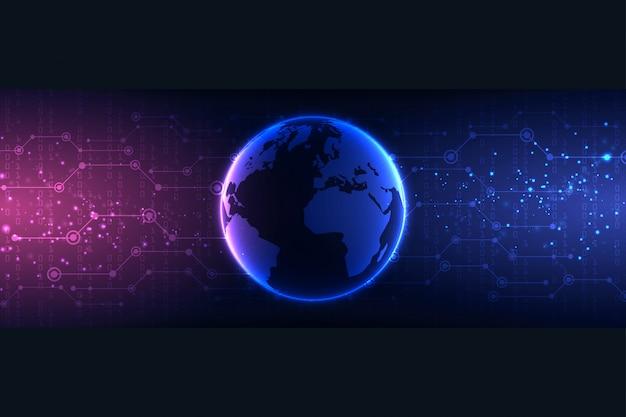 Streszczenie technologia tło chronić system innowacji ilustracji wektorowych bezpieczeństwo cyber cyfrowy koncepcja. ochrona danych osobowych.