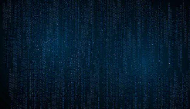 Streszczenie technologia tło. dane binarne i przesyłanie strumieniowe kodu binarnego w tle