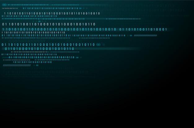 Streszczenie technologia tło. dane binarne