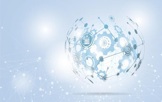 Streszczenie technologia tło glob