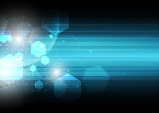 Streszczenie technologia tło, izometryczny formularz, forma sześciokąta