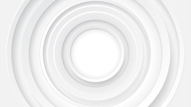 Streszczenie technologia tło koło geometrii dekoracji, nauki i technologii białe tło
