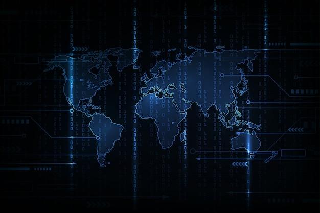 Streszczenie technologia tło. koncepcja hakera, programowanie kodowania, binarny kod komputerowy. styl tła macierzy.