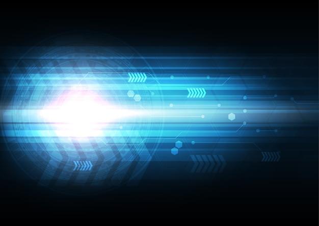 Streszczenie technologia tło, koncepcja prędkości połączenia. niebieski motyw