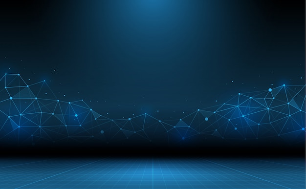 Streszczenie technologia tło. nauka i łącząca technologia
