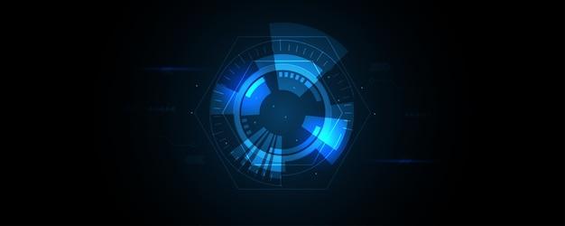 Streszczenie technologia tło, tło innowacji koncepcja komunikacji hi-tech, nauka i technologia cyfrowe niebieskie tło