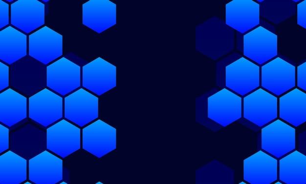 Streszczenie technologia tło z niebieskim sześciokątnym. ilustracja wektorowa.