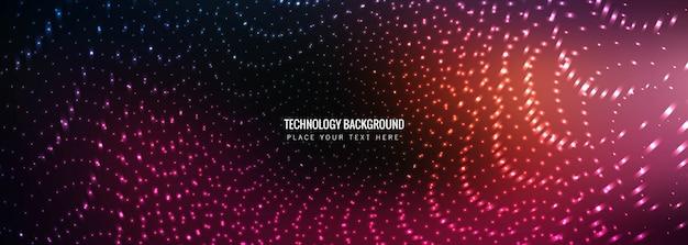 Streszczenie technologia transparent szablon wektor