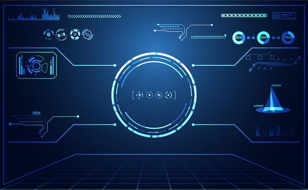 Streszczenie technologia ui futurystyczny