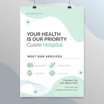 Streszczenie technologiczny plakat medyczny