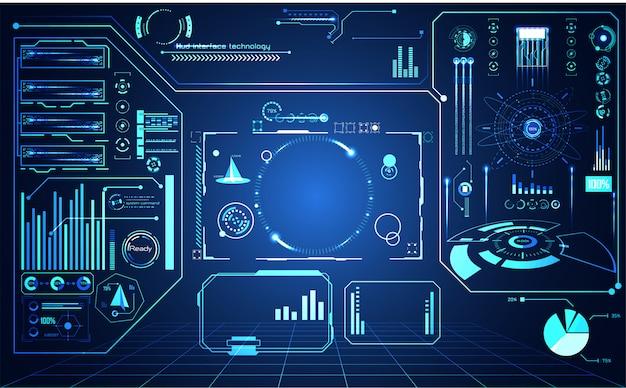 Streszczenie technologii futurystyczny ui