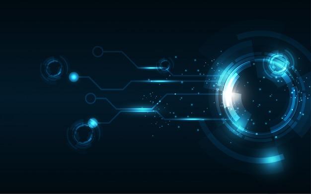 Streszczenie technologii tle hi-tech komunikacji koncepcji innowacji tle