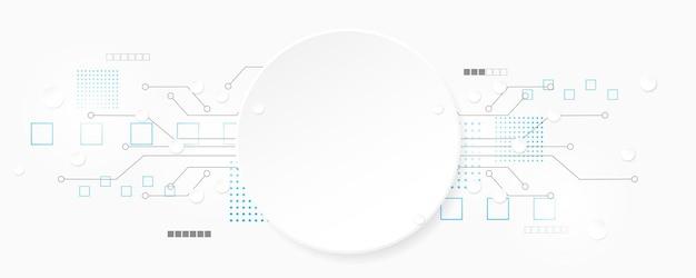 Streszczenie technologii tle ilustracji