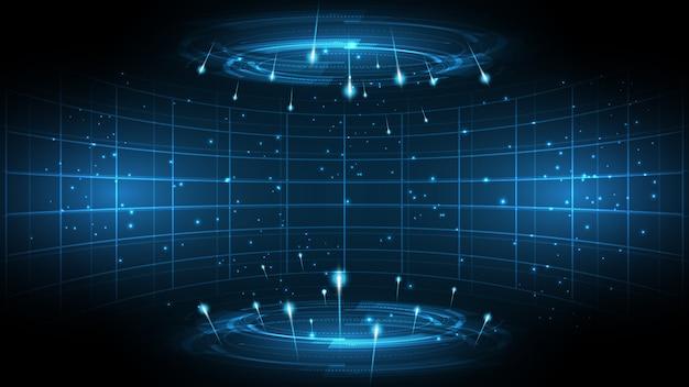Streszczenie technologii tle technologii komunikacji koncepcja innowacji tło