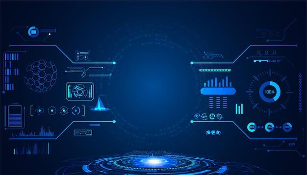 Streszczenie technologii ui futurystyczna koncepcja hud interfejs elementów hologramu