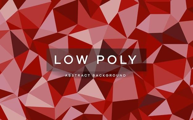 Streszczenie tekstura tło czerwony low poly