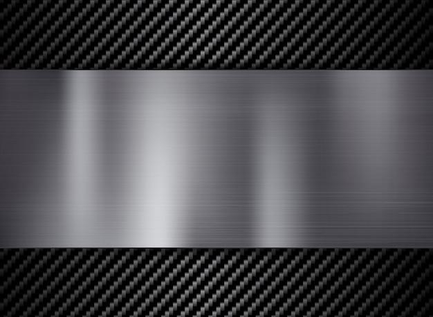 Streszczenie tekstura włókna węglowego i metalu