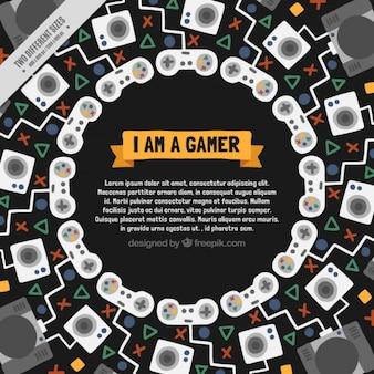 Streszczenie tle gry wideo w płaskiej konstrukcji