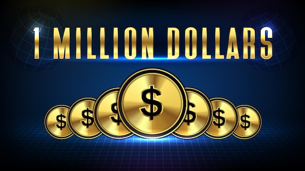 Streszczenie tle rynku akcji 1 milion dolarów i złote monety dolara