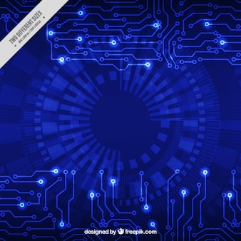 Streszczenie tle układów technologicznych w niebieskich kolorach