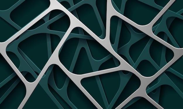 Streszczenie tło 3d z zielonych warstw papieru