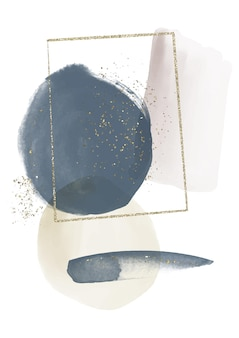 Streszczenie tło akwarela z ręcznie malowanymi elementami