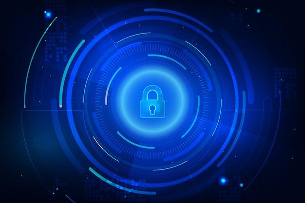 Streszczenie tło bezpieczne technologii