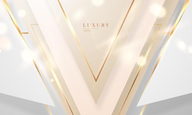 Streszczenie tło białe złoto plakat piękno z vip luksusowe dynamiczne.